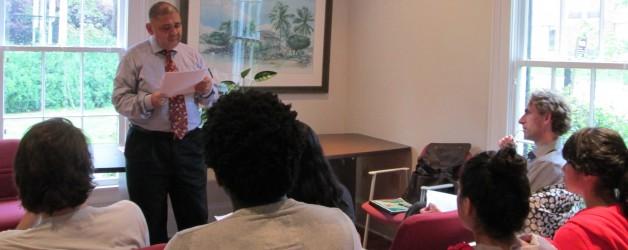 PFP Hosted Bilingual Lecture on Literature with Brazilian Professor